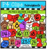 P4 FELT Advent Calendar Numbers (P4 Clips Trioriginals Clip Art)