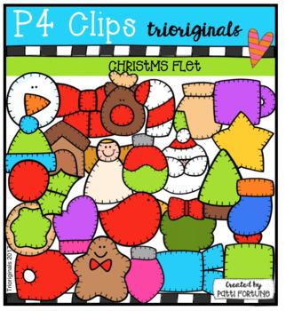 P4 FELT Christmas (P4 Clips Trioriginals Clip Art)