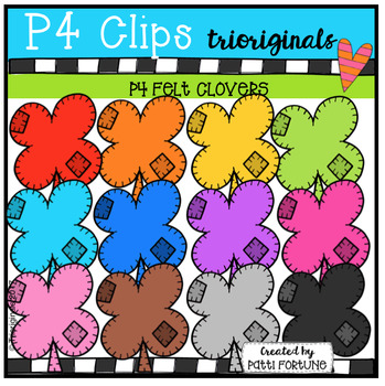P4 FELT Shamrocks (P4 Clips Trioriginals Clip Art)