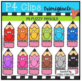 P4 FUZZY Pencils (P4 Clips Trioriginals Clip Art)