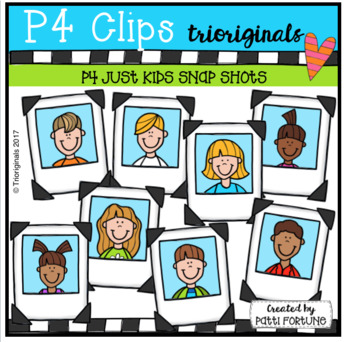 P4 JUST KIDS #1 Snap Shots (P4 Clips Trioriginals Clip Art)