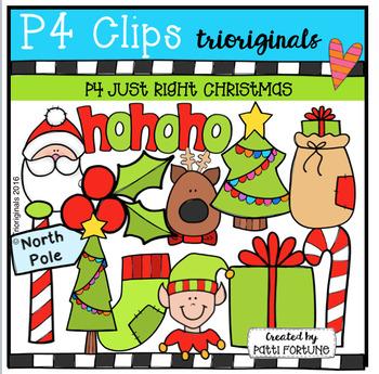 P4 JUST RIGHT Christmas (P4 Clips Trioriginals Digital Clip Art)