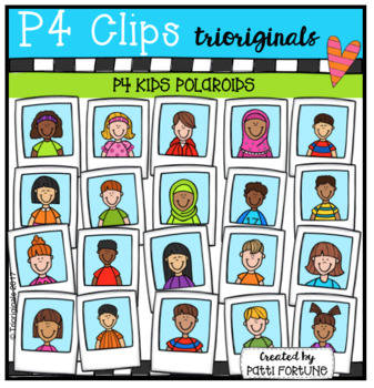P4 KIDS Polaroids (P4 Clips Trioriginals Clip Art)