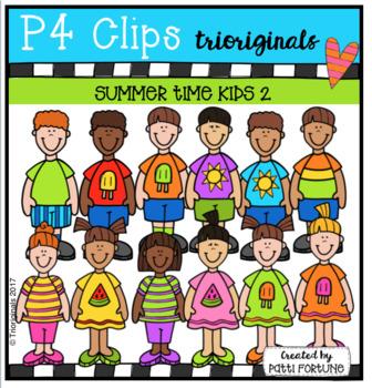P4 KIDS Summer FUN #2 (P4 Clips Trioriginals Clip Art)