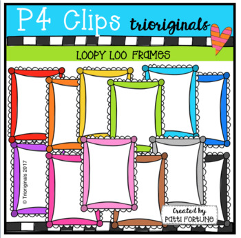 P4 LOOPY Loo Frames (p4 Clips Trioriginals Clip Art)