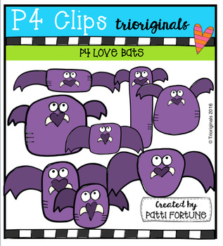 P4 LOVE Bats (P4 Clips Trioriginals Digital Clip Art)
