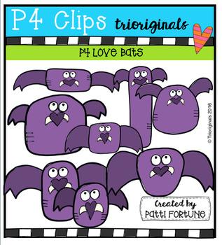 P4 LOVE Bats (P4 Clips Trioriginals Digital Clip Art)