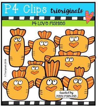 P4 LOVE Fishies (P4 Clips Trioriginals Digital Clip Art)