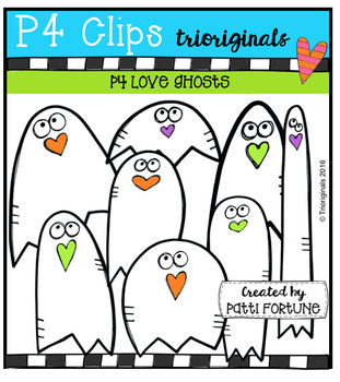 P4 LOVE Ghosts (P4 Clips Trioriginals Digital Clip Art)