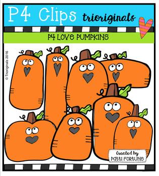 P4 LOVE Pumpkins (P4 Clips Trioriginals Digital Clip Art)