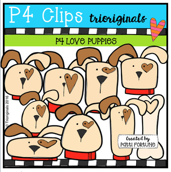 P4 LOVE Puppies (P4 Clips Trioriginals Digital Clip Art)