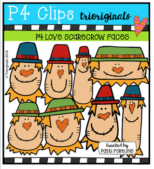 P4 LOVE Scarecrows (P4 Clips Trioriginals Digital Clip Art)