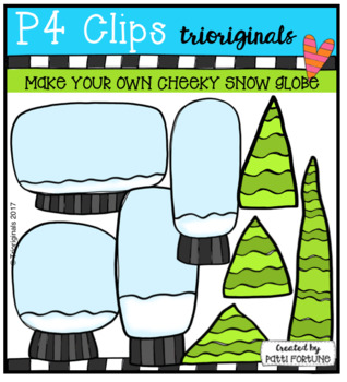 P4 MAKE YOUR OWN CHEEKY Snow Globe (P4 Clips Trioriginals)