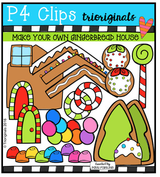 P4 MAKE YOUR OWN Gingerbread House (P4 Clips Trioriginals)
