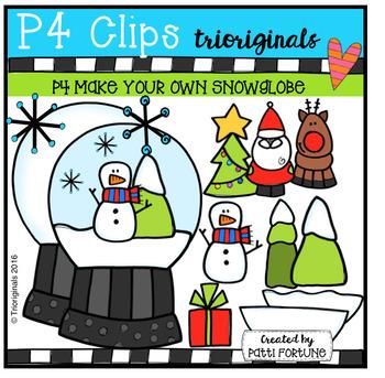 P4 MYO Snow Globe (P4 Clipas Trioriginals Digital Clip Art)