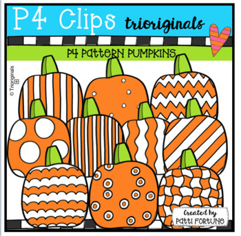 P4 PATTERN Pumpkins (P4 Clips Trioriginals CLip Art)