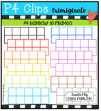 P4 RAINBOW 10 Frames (P4 Clips Trioriginals Digital Clip Art)