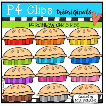 P4 RAINBOW Apple Pie (P4 Clips Trioriginals Clip Art)