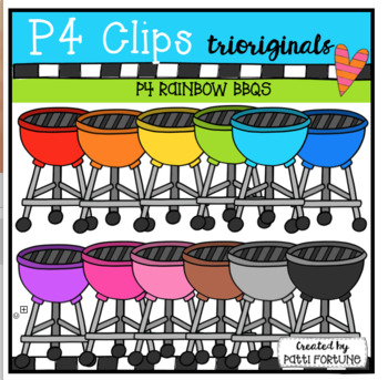 P4 RAINBOW BBQs (P4 Clips Trioriginals) Clip Art