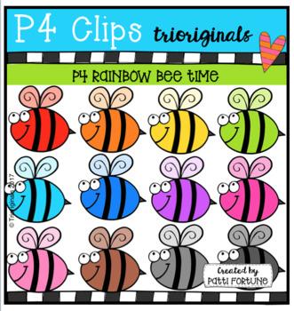 P4 RAINBOW Bee Time (P4 Clips Trioriginals Clip Art)