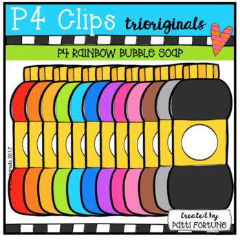 P4 RAINBOW Bubble Soap (P4 Clips Trioriginals CLip Art)