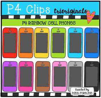 P4 RAINBOW Cell Phones (P4 Clips Trioriginals Clip Art)
