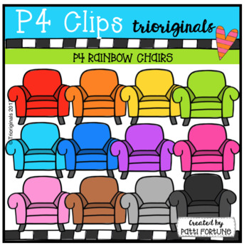 P4 RAINBOW Chairs (P4 Clips Trioriginals Clip Art)