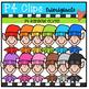 P4 RAINBOW Christmas Elves (P4 Clips Trioriginals Digital Clip Art)