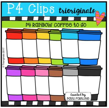 P4 RAINBOW Coffee on the Go (P4 Clips Trioriginals Clip Art)