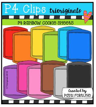 P4 RAINBOW Cookie Sheets (P4 Clips Trioriginals)