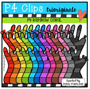 P4 RAINBOW Coral (P4 Clips Triorignals Clip Art)