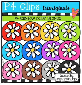 P4 RAINBOW Daisy Stones (P4 Clips Trioriginals