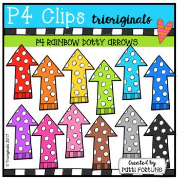 P4 RAINBOW Dotty Arrows (P4 Clips Trioriginals Clip Art)