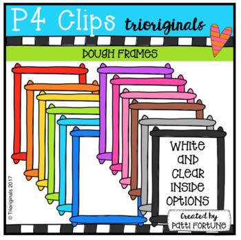 P4 RAINBOW Dough Frames (P4 Clips Trioriginals Clip Art)