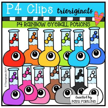 P4 RAINBOW Eyeball Potion (P4 Clips Trioriginals CLip Art)
