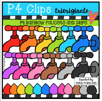 P4 RAINBOW Faucets and Drips (P4 Clips Trioriginals Clip Art)