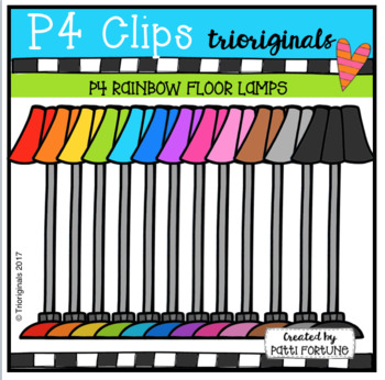 P4 RAINBOW Floor Lamp(P4 Clips Trioriginals Clip Art)