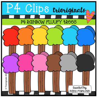 P4 RAINBOW Fluffy Tress (P4 Clips Trioriginals Clip Art)