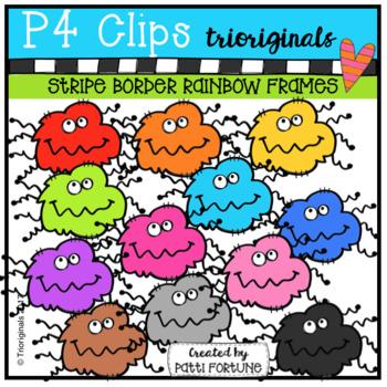 P4 RAINBOW Frazzled Spiders (P4 Clips Trioriginals Clip Art)