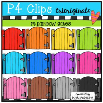 P4 RAINBOW Gates (P4 Clips Trioriginals Clip Art)