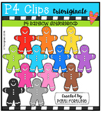 P4 RAINBOW Gingerbread Men (P4 Clips Trioriginals)
