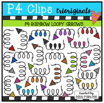 P4 RAINBOW Loopy Arrows (P4 Clips Trioriginals Clip Art)