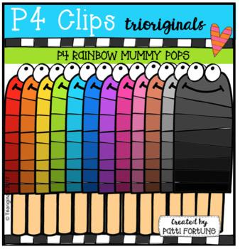 P4 RAINBOW Mummy Popsicles (P4 Clips Trioriginals Clip Art)