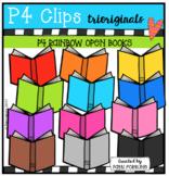 P4 RAINBOW Open Books (P4 Clips Trioriginals Clip Art)