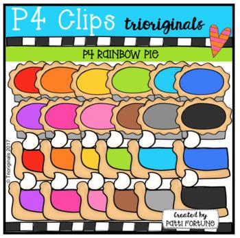 (50% OFF) P4 RAINBOW Pie (P4Clips Trioriginals Clip Art)