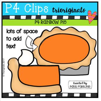 P4 RAINBOW Pie (P4Clips Trioriginals Clip Art)