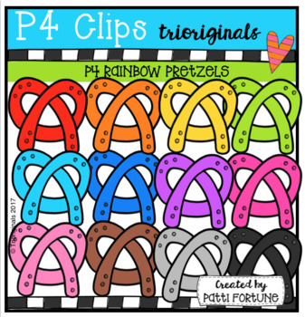 P4 RAINBOW Pretzels (P4 Clips Trioriginals Clip Art)