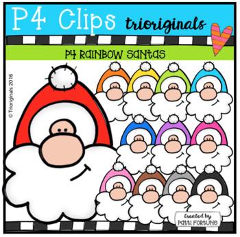 P4 RAINBOW Santas (P4 Clips Trioriginals)