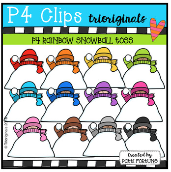 P4 RAINBOW Snow KIDS Tossing (P4 Clips Trioriginals)