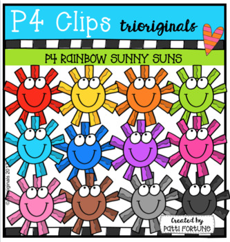 P4 RAINBOW Sunny Suns (P4 Clips Trioriginals Clip Art)